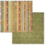 Stripe Paper - Dreams Of Autumn - Bo Bunny