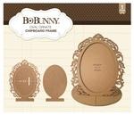 Oval Ornate Chipboard Frame - Bo Bunny