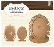 Oval Ornate Chipboard Frame - Bo Bunny
