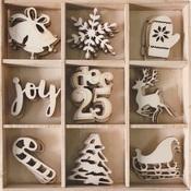 Christmas Wood Shapes - Bo Bunny