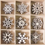 Snowflakes Wood Shapes - Bo Bunny