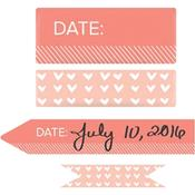 Coral Day & Time Washi Tape - We R Memory Keepers