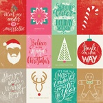 Colorful Christmas Eight Paper - Authentique
