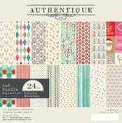 Colorful Christmas 6 x 6 Paper Pad - Authentique