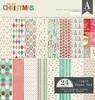 Colorful Christmas 12 x 12 Paper Pad - Authentique