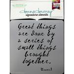 Vincent-Great Things Donna Downey Signature Stencils