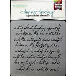 Art Is Script Donna Downey Signature Stencils