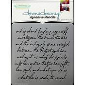Art Is Script Donna Downey Signature Stencils