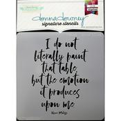 Matisse-I Do Not Donna Downey Signature Stencils