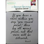 Vincent-If You Hear Donna Downey Signature Stencils