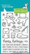 Beary Happy Holidays Stamp - Lawn Fawn