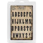 "Gothic Uppercase 1.25"" Idea-Ology Cling Foam Stamps - Tim Holtz"