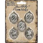 Antique Nickel Idea-Ology Crypt Cameos - Tim Holtz
