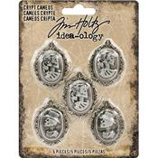 Antique Nickel Idea-Ology Crypt Cameos - Tim Holtz