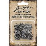 Antique Nickel Halloween Idea-Ology Metal Adornments - Tim Holtz