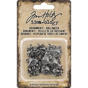 Antique Nickel Halloween Idea-Ology Metal Adornments - Tim Holtz