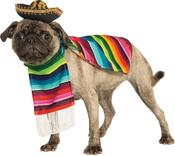 Medium - Rubie's Mexican Sarape Pet Costume