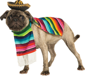 Extra Large - Rubie's Mexican Sarape Pet Costume