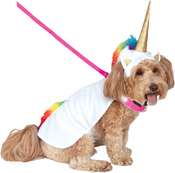 Large - Rubie's Light Up Collar Unicorn Pet Costume
