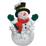 Snowflake Snowman Hanging Felt Applique Kit