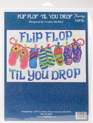 "7""X10.75"" 14 Count - Flip Flop Til You Drop Counted Cross Stitch Kit"