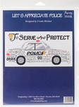 """12""""X6"""" 14 Count - Let's Appreciate Police Counted Cross Stitch Kit"""