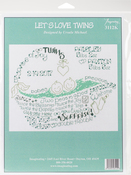 "9.5""X7.25"" 14 Count - Let's Love Twins Counted Cross Stitch Kit"