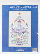 "6""X10.5"" 14 Count - Let's Go To Church Counted Cross Stitch Kit"