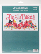 """7""""X13.5"""" 14 Count - Jingle Birds Counted Cross Stitch Kit"""