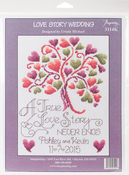 "7.5""X10"" 14 Count - Love Story Counted Cross Stitch Kit"
