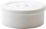 "White - Small - Button Shaped Storage Box 3.25"""