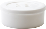 White - Small - Button Shaped Storage Box 3.25""