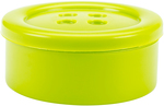 """Lime - Small - Button Shaped Storage Box 3.25"""""""