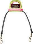 """Black - Faux Leather Handbag Handle Shoulder Strap 21-1/4"""""""