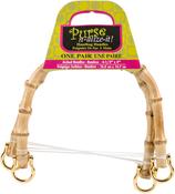 """Natural - Bamboo Handbag Handles 6-1/2"""" Arched 2/Pkg"""