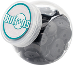 Black - Button Jar 4oz