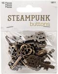 Antique Gold Key 15/Pkg - Steampunk Buttons