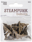 Antique Gold Corner 15/Pkg - Steampunk Buttons
