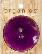 """Purple - Organic Elements-Coconut Buttons 2-1/2"""" 1/Pkg"""
