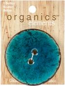 "Turquoise - Organic Elements-Coconut Buttons 2-1/2"" 1/Pkg"