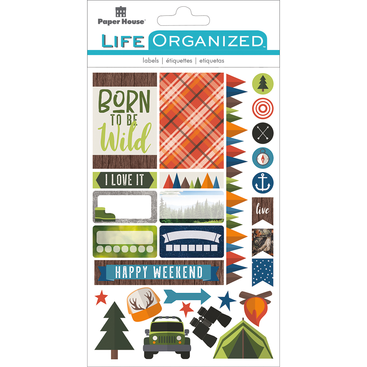 Outdoor Fun - Paper House Life Organized Planner Stickers