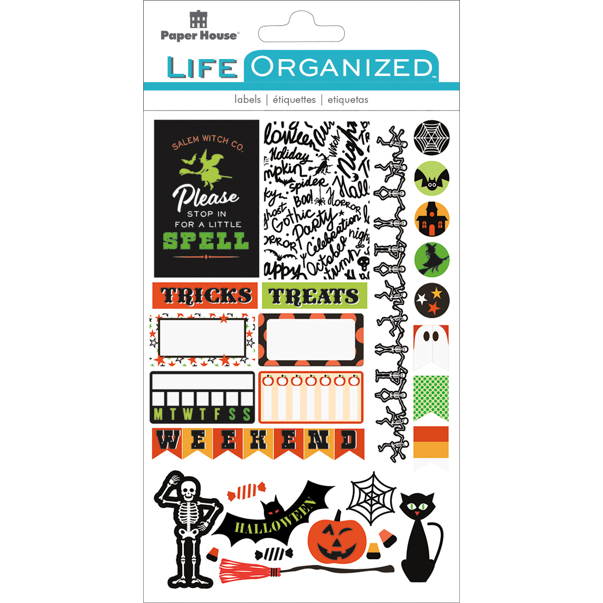 Halloween Fun - Paper House Life Organized Planner Stickers