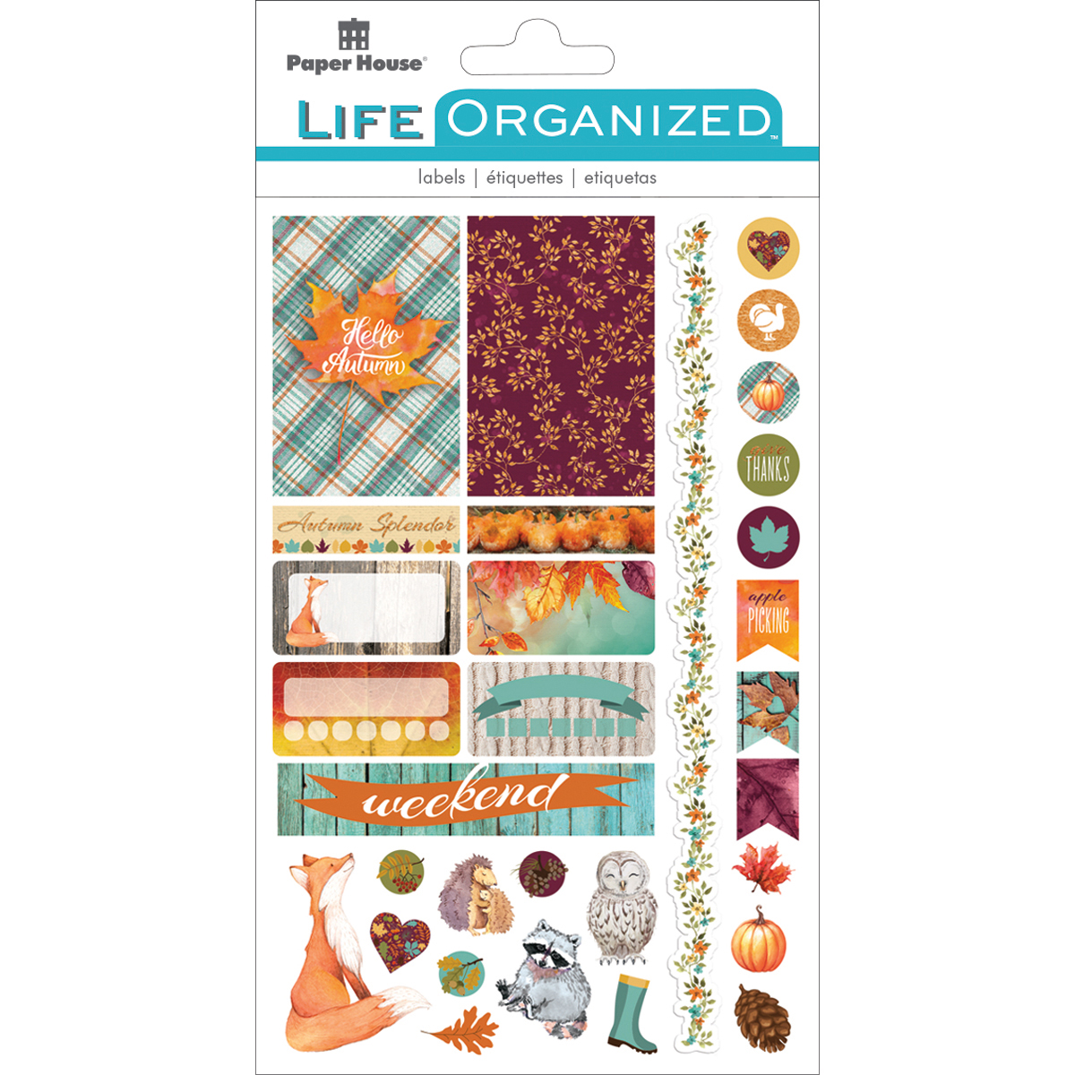 Autumn Woods Fun - Paper House Life Organized Planner Stickers