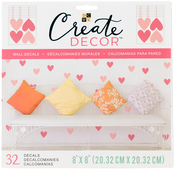 """Heart Confetti, 8 Sheets - DCWV Create Decor Removable Wall Decals 8""""X8"""""""