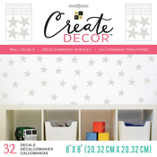 "Sharp Stars, 8 Sheets - DCWV Create Decor Removable Wall Decals 8""X8"""