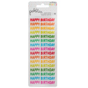 Happy Birthday Repeat Stickers - Happy Hooray - Pebbles
