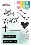 Acrylic 3 Stamp Set - Creative Devotion - American Crafts