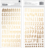 Gold Foil Alpha Thickers - Sweater Weather - American Crafts