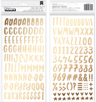 Gold Foil Alpha Thickers - Sweater Weather - American Crafts - PRE ORDER