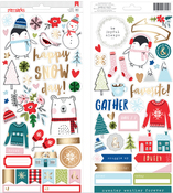 Sweater Weather Gold Foil Cardstock Stickers - American Crafts